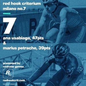 Ana Usabiaga (Poloandbike): 47 points Brooklyn No.9 (Qualifying: 10th / Race: 18th) London No.2 (Qualifying: 17th / Race: 51st) Barcelona No.4 (Qualifying: 4th / Race: 2nd) ----------------------------------------------------Marius Petrache (Team Cinelli Chrome) 39 points Brooklyn No.9 (Qualifying: 31st / Race: 24th) London No.2 (Qualifying: 64th / Race: 7th) Barcelona No.4 (Qualifying: 37th / Race: 8th)