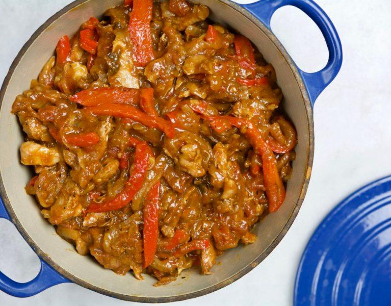 Pollo alla Romana - Red Hot and Hungry