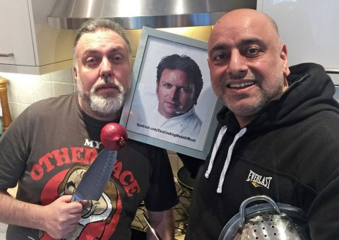 Raj & Pedro launch the 'Easy Cooking Made Difficult' on Facebook Live.