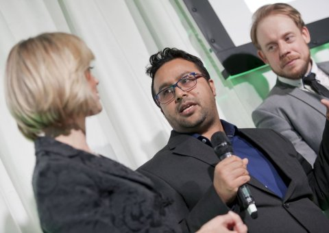 Azmular Rahman of Delhi 41 at the Chesterfield Food and Drink Awards 2017