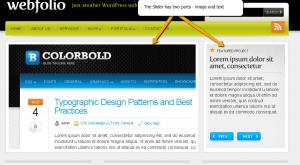 webfolio, slider setup,