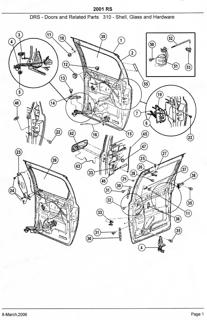 Chrysler Town And Country Sliding Door Parts Diagram