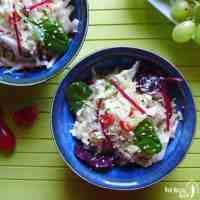 Napa cabbage salad in a bowl