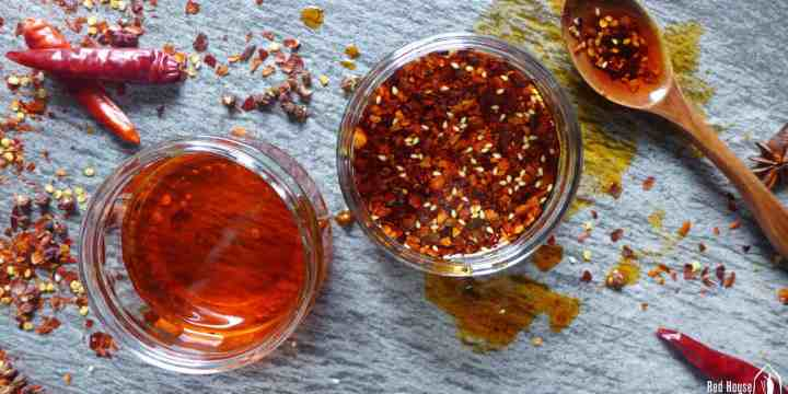 Chinese chilli oil in jars