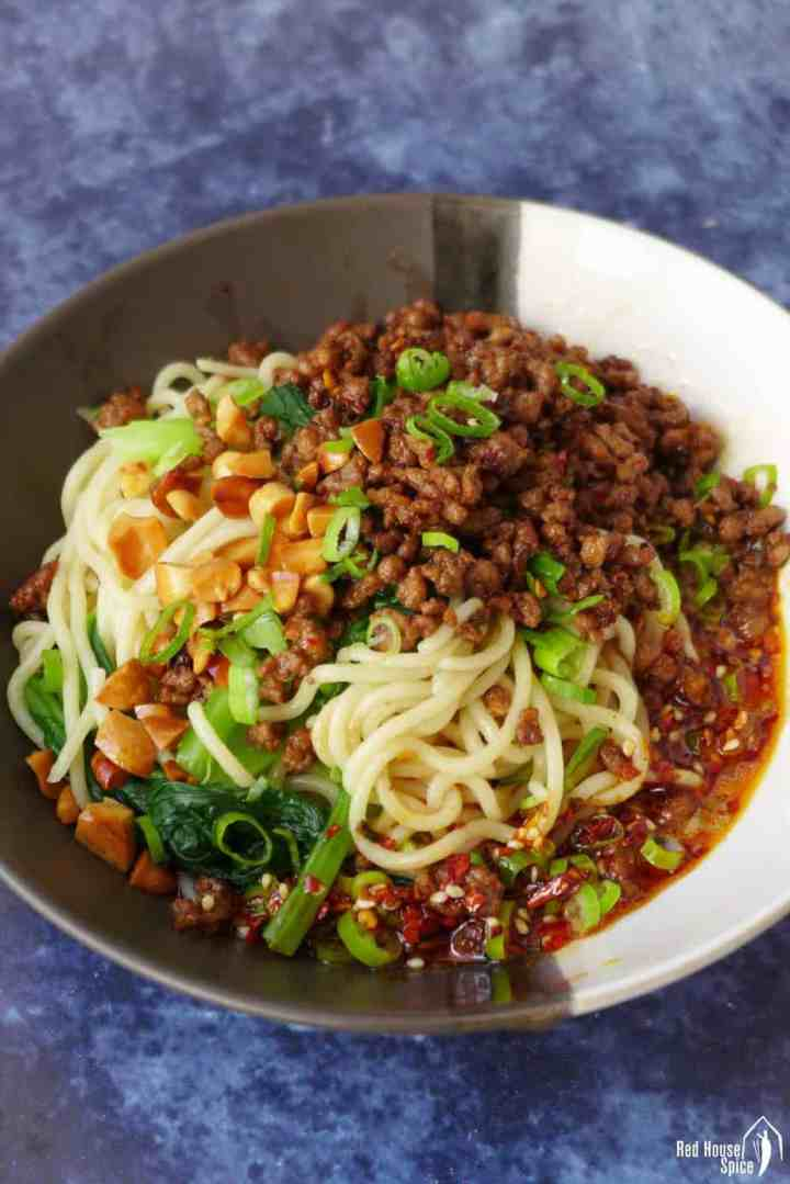 A bowl of Dan Dan noodles