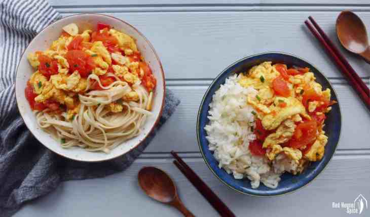 Tomato and egg stir-fry (番茄炒蛋)