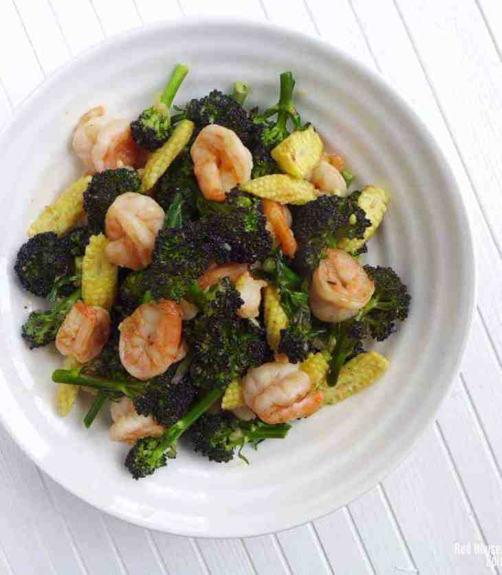 Fresh, crunchy, healthy and very easy to cook, purple sprouting broccoli and prawn stir-fry is a great seasonal dish to try.