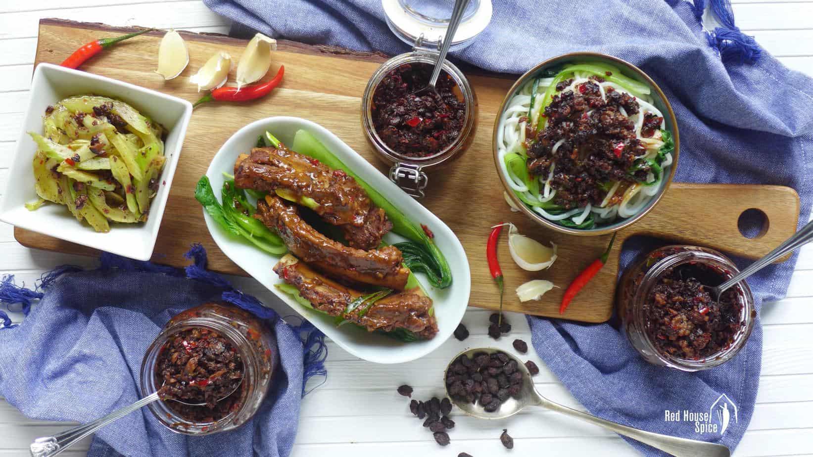Spicy black bean sauce—three versions (辣豆豉酱)