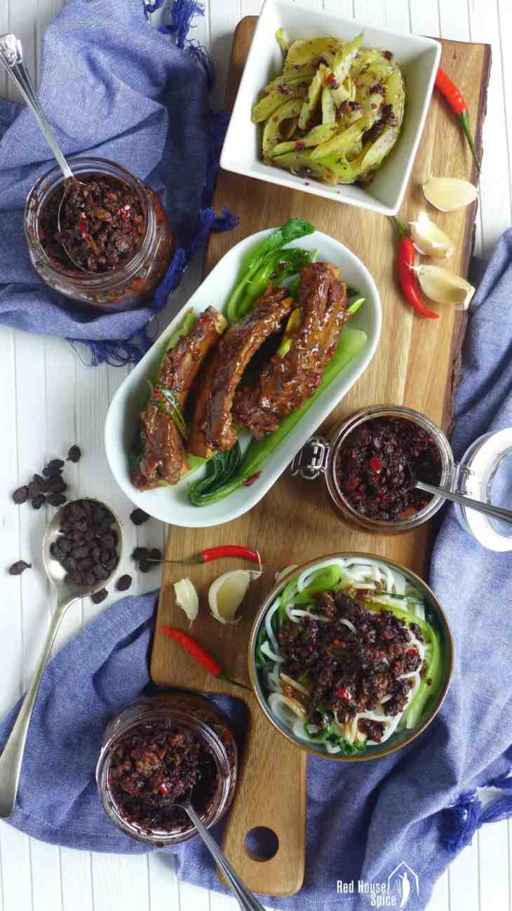 Popular, versatile Chinese black bean sauce can be easily made at home. I have three versions to share: classic, with mushrooms and with minced meat.