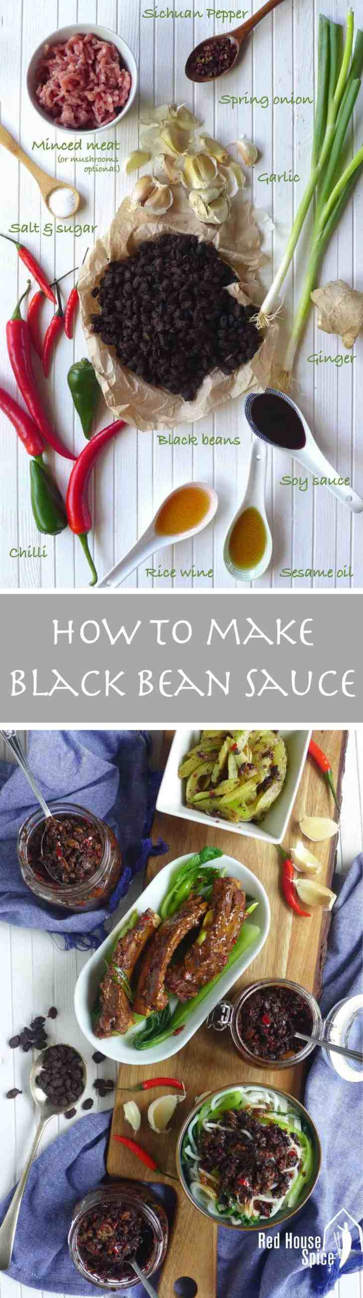 Popular, versatile Chinese black bean sauce can be easily made at home. I have three versions to share: classic, with mushrooms or with minced meat.