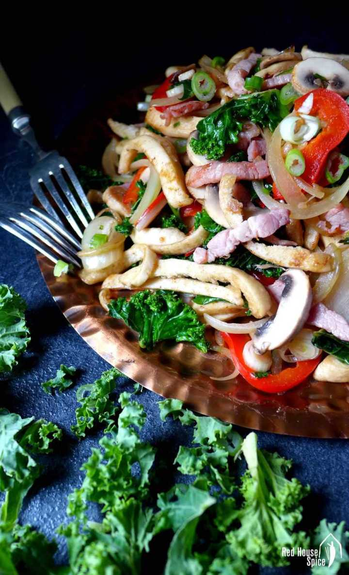 You may have stuffed pita bread with a stir-fry, but this recipe shows you how to stir fry pita itself! Chinese-inspired pita bread stir-fry is a fun dish to try!