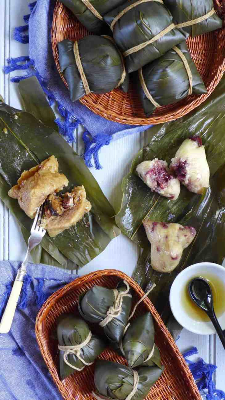 A classic treat for Dragon Boat Festival. With this informative recipe you will make sweet and savoury Zongzi (Chinese sticky rice dumplings) with great ease.