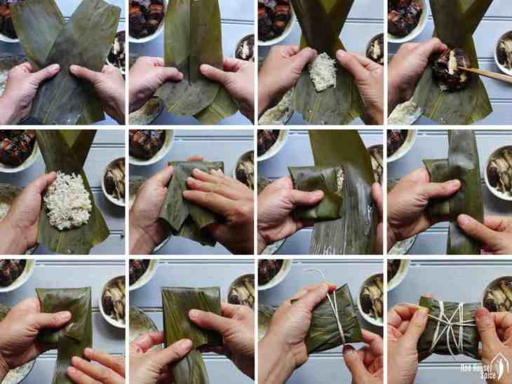 A classic treat for Dragon Boat Festival. With this informative recipe you will make sweet and savoury Zongzi (Chinese sticky rice dumplings) with ease.
