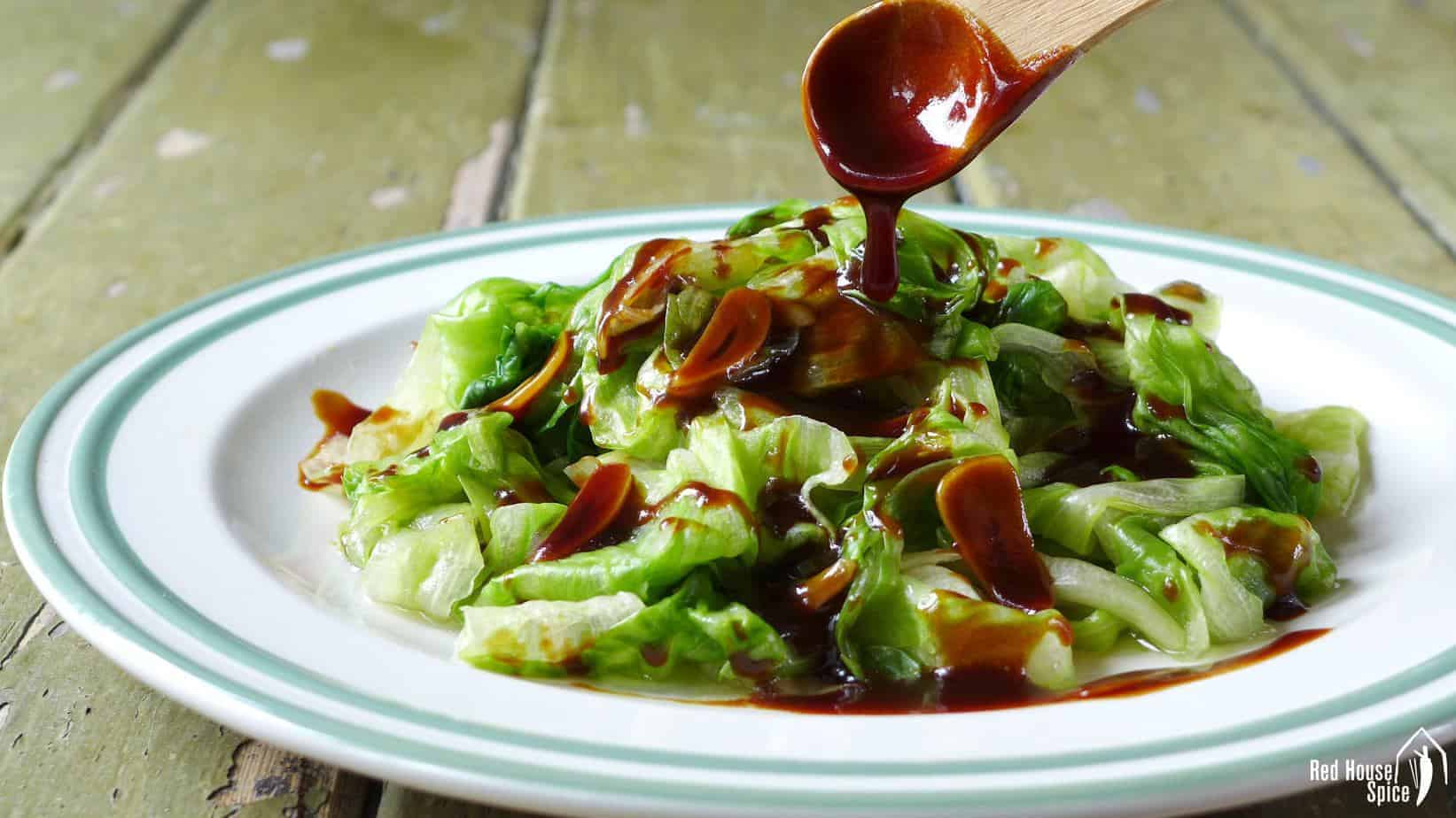 Iceberg lettuce with oyster sauce (蚝油生菜)