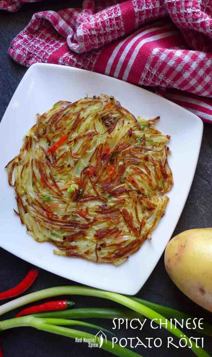 If you love potato and fancy spicy flavour, you must try this Chinese potato rösti! It's pungent and crispy. A great side dish to add zing to your meal.