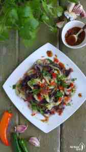 Steamed to a creamy, melt-in-your-mouth texture, then seasoned with a pungent chilli-garlic dressing, this Chinese aubergine salad is simple yet delectable.