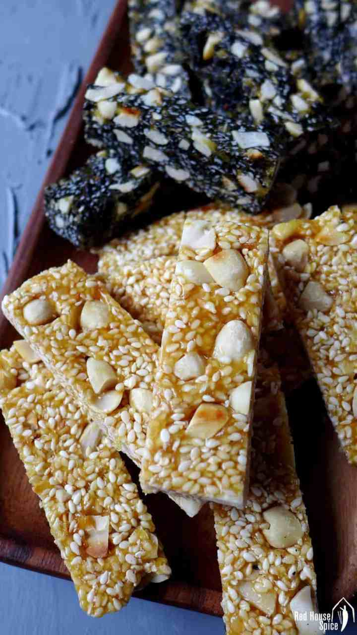 Chinese peanut & sesame brittle