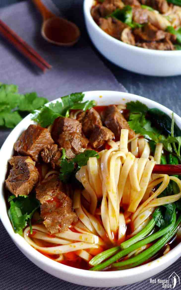 spicy beef noodle soup 香辣牛肉面  red house spice