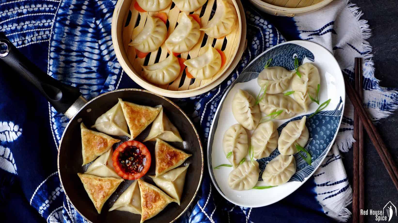 Cook dumplings in three ways