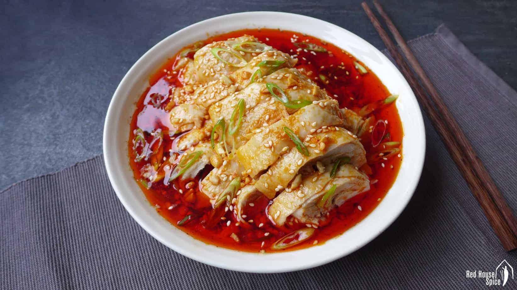 Mouth-watering chicken (Kou Shui Ji, 口水鸡)