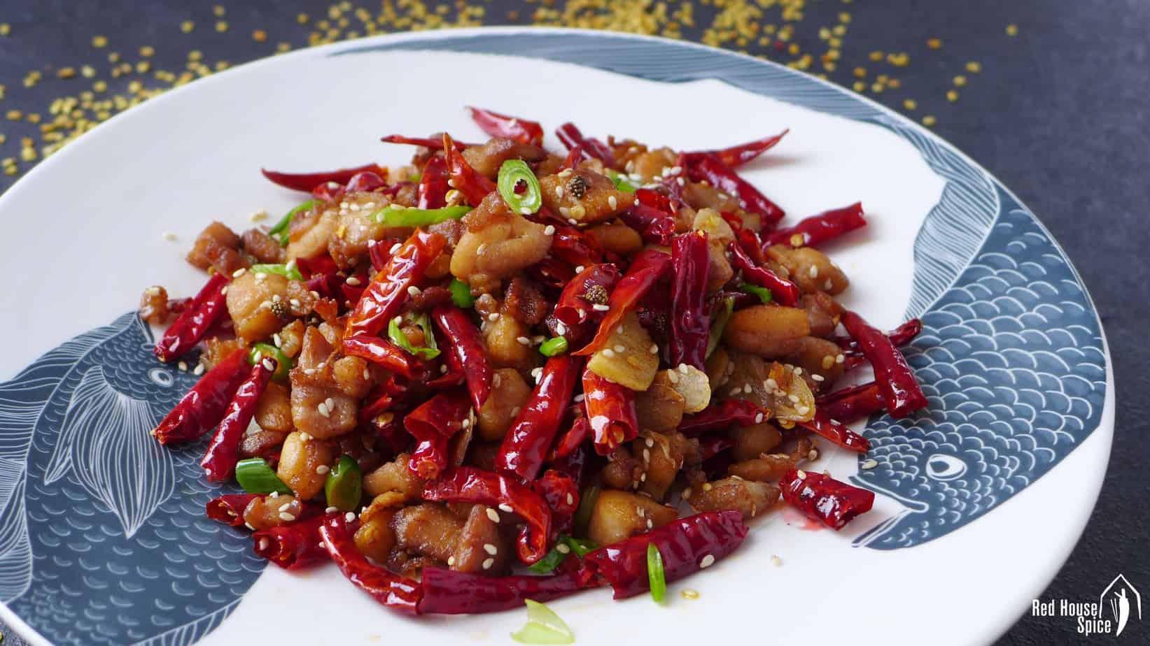 Mala chicken (Chongqing Laziji, 辣子鸡)