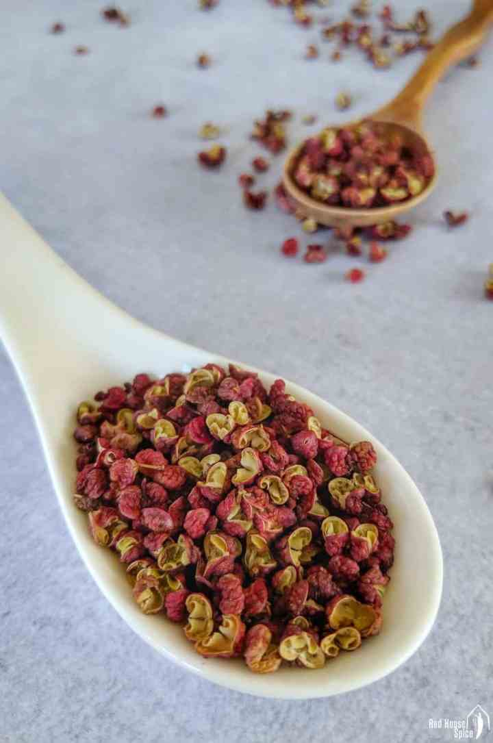 Two spoonful of Sichuan pepper.