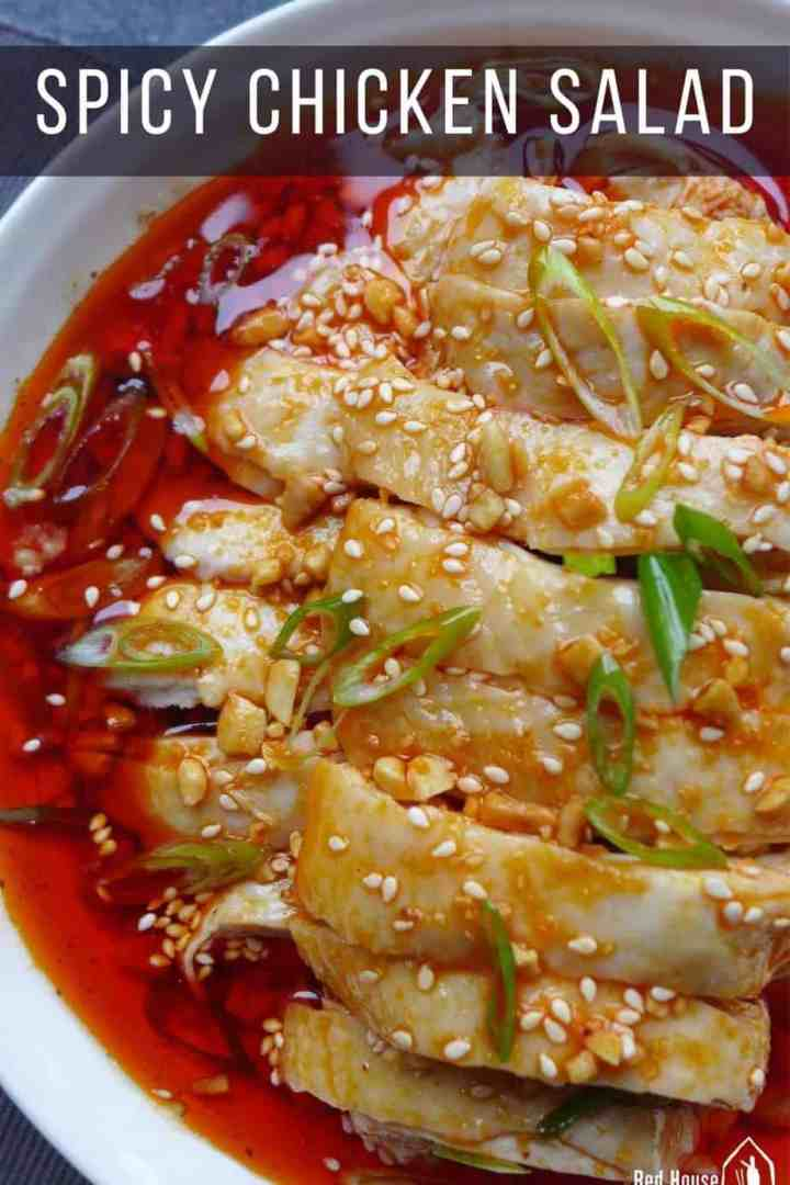 poached chicken in Sichuan spicy dressing