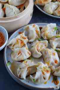 boiled dumplings with chili oil