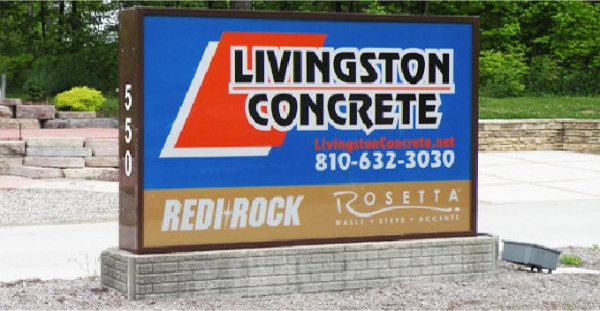 Livingston Concrete and Redi-Wall Sign Brighton, MI