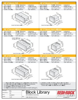 Redi-Rock Block Library Brochure Technical