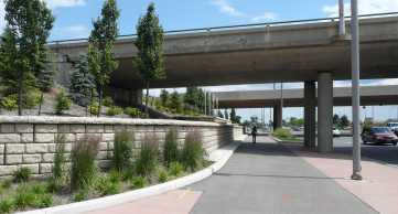 Redi-Rock_Cobblestone_bridge_overpass_retaining_wall