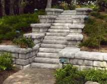 Redi-Rock Cobblestone with steps Redi-Wall Brighton MI