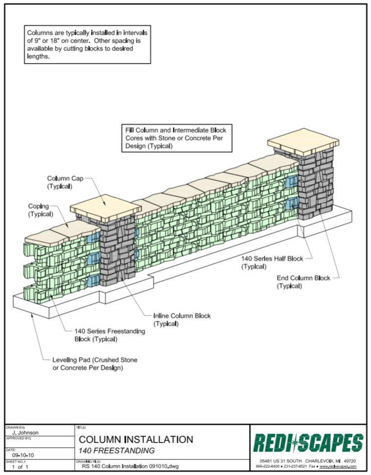 Redi-Scape 140 Column Install