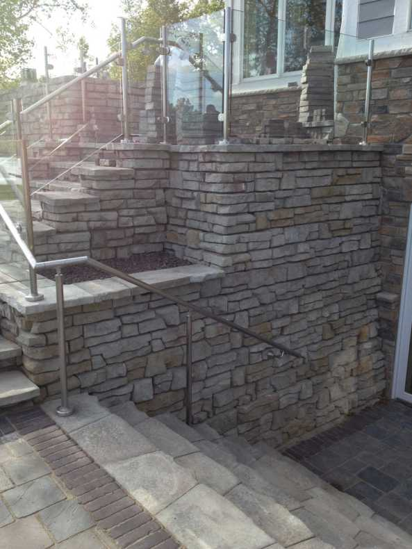 Redi-Scape stairs and railing installation