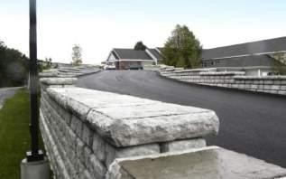 Redi-Rock Walls Driveway Guard