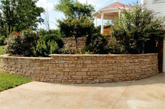 Redi-Scape Retaining wall for plantings and landscape