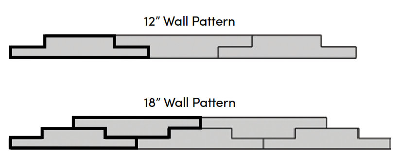 "Rosetta Belvedere Retaining Wall Patterns 12"" &18"""