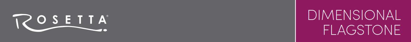 Rosetta Dimensional Flagstone Banner