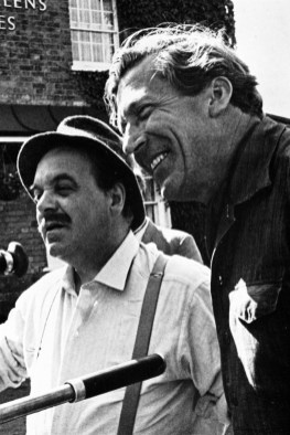 Patrick Wymark and Cyril Coke on location for 'Four of Hearts'