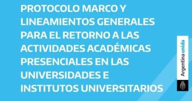 Acuerdo unánime del protocolo universitario para el regreso a las actividades académicas