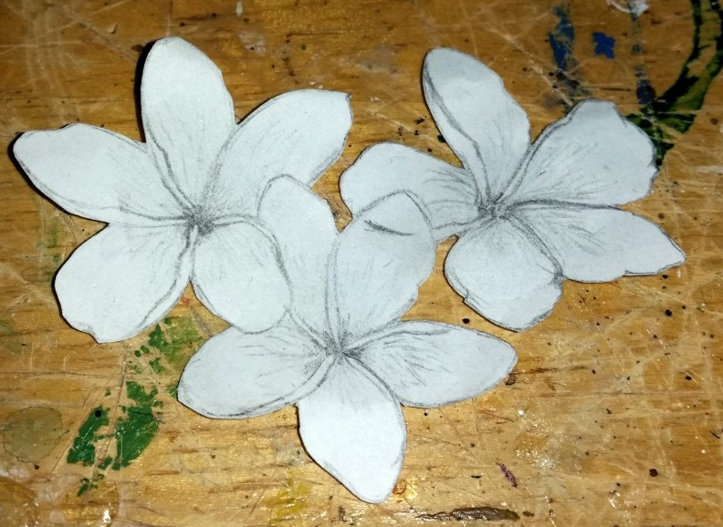 Paper Sketch of Flower Trio