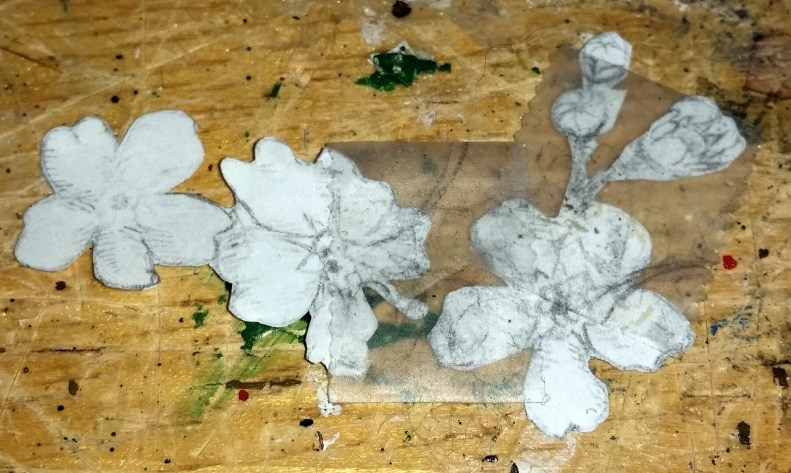 Paper Sketch of Flowers with Buds for Nose Art