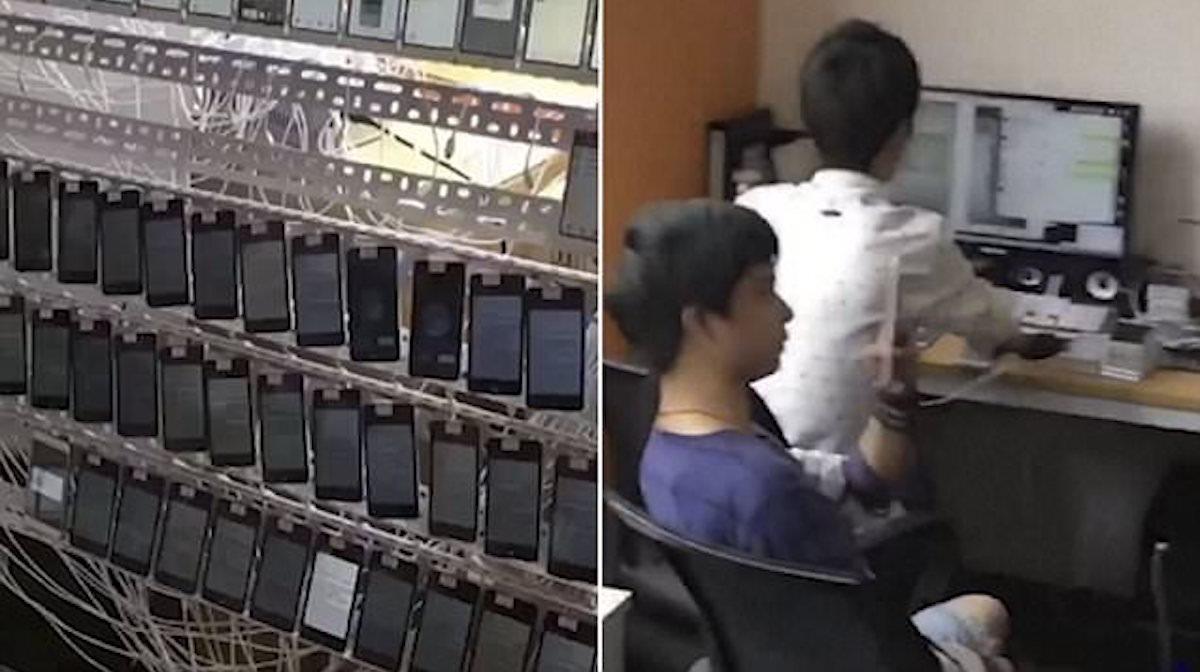 """Tienen 10 mil celulares conectados a una máquina. Quizás ya has sido víctima de su """"plan malévolo"""""""