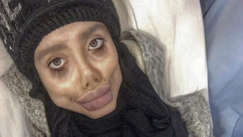 La 'Jolie zombi' iraní revela su cara real (FOTOS)