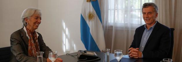 ARGENTINA-IMF-MACRI-LAGARDE
