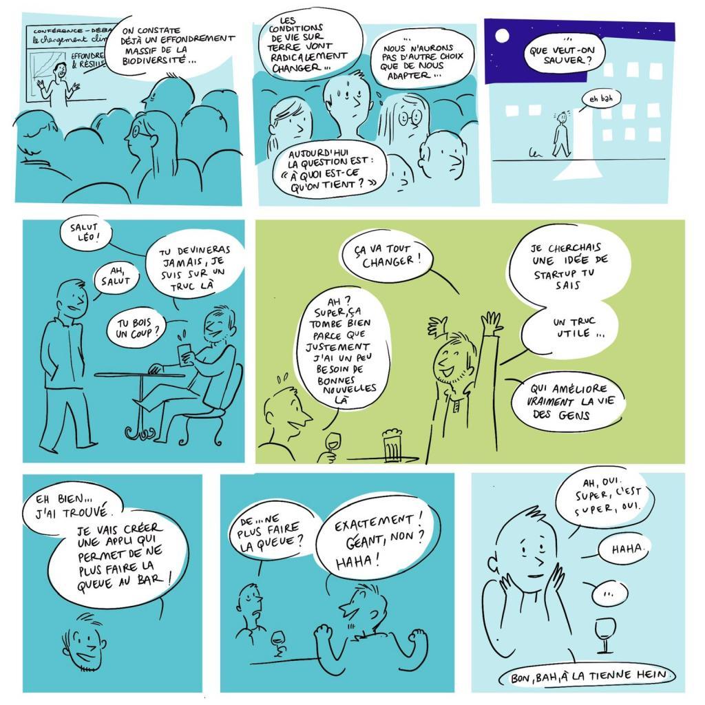 la redirection écologique en bande dessinée