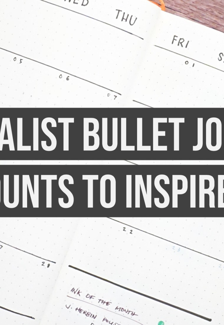 More Minimalist Bullet Journal Accounts To Inspire You