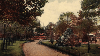 A colourised postcard of the anvil stones c1930