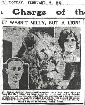 Lion escapes 1932