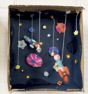 Space Diorama, Inspired by Mae Among the Stars